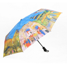 Create Umbrellas European Countries Oil Painting Umbrella three Folding Classic Anti-uv Sun/Rain Durable Automatic Umbrella 2017