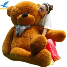Fancytrader Dark Brown Giant Stuffed Teddy Bear 78 INCHES (200cm) Free Shipping 4 Colors FT90056(China)