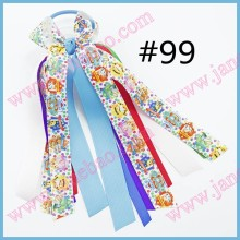 free shipping 300pcs Girl Hair Accessories Ponys  O Bow Ponytail Streamer Elastic