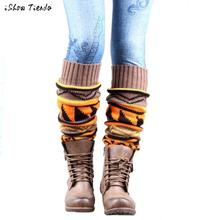 Bohemia Leg Warmers For Women Knit Crochet Socks For Boots Calentadores Piernas Mujer #2198
