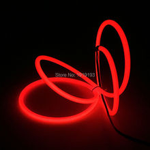 High-grade Light-up 5.0mm 10 Colors Style 1-25Meter Energy saving EL wire LED Strip Flexible Neon light For House,Garden decor(China)