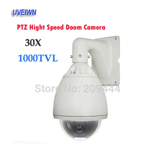UVEIWN Security CCTV Outdoor 1000TVL SONY CCD CCTV 30x Optical Zoom Dome PTZ Camera 256 Preset With RS-485 DHL free shipping(China)