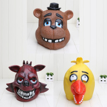 high Quality Adult Five Nights At Freddy's Freddy chica foxy bear Full Latex Mask Latex Figure Toy FNAF toy