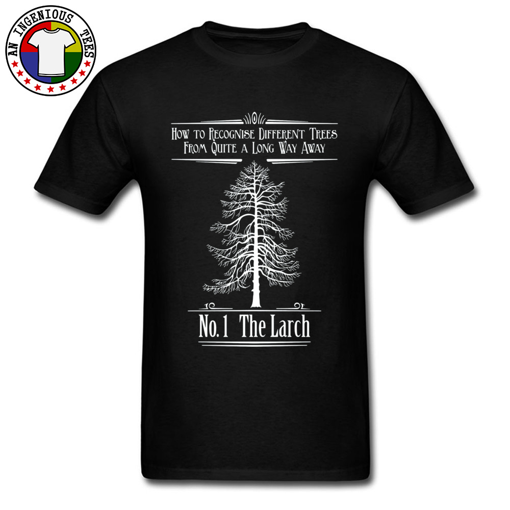Tops T Shirt No. 1 The Larch 3301 T Shirts Autumn Funky Customized Short Sleeve 100% Cotton O-Neck Men T-Shirt Customized No. 1 The Larch 3301 black