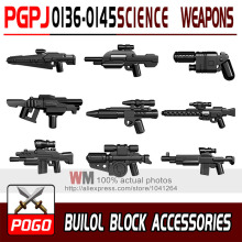 POGO 10pcs/set PGPJ0136-0145 Science Fiction Weapon Gun  DIY Building Blocks Sets Model Bricks Toys for Children
