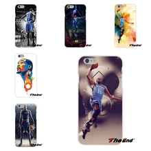 Thunder Star Superstar Kevin Durant KD For Samsung Galaxy S3 S4 S5 MINI S6 S7 edge S8 Plus Note 2 3 4 5 Soft Silicone Case(China)