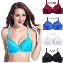 Hot sales! 2015 B cup full lace coverage push up bra sexy lace bra intimate brassiere thin cup bras for women lingerie H062