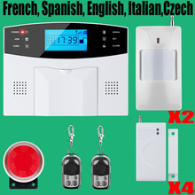 Promotion for French, Spanish, English, Italian, polish,Czech Voice Wireless GSM Alarm Systems Security Home Alarm