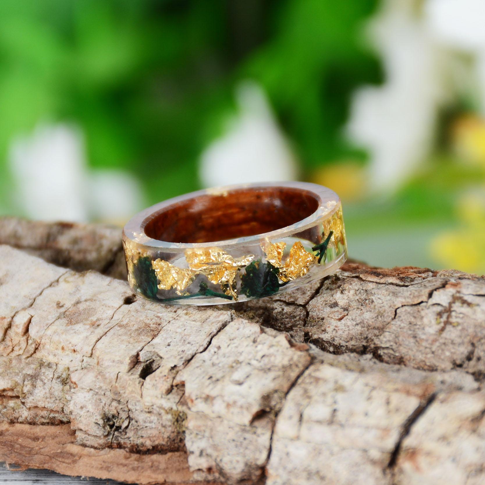 Handmade Wood Resin Ring Many Styles 41