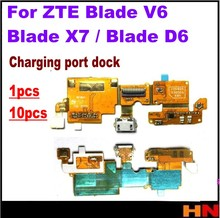 1pcs 10pcs charger port USB charging port dock connector complete Flex cable For ZTE Blade V6 / Blade X7 / Blade D6