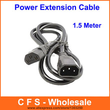 1pcs IEC Mains Power Extension Cable C13 to C14 PC Monitor Cable Cord Power Kettle Lead UPS PC(China)
