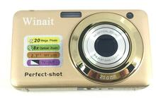 WIANIT 20 mega pixels digital camera with 2.7'' TFT display and 8x optical zoom digital video camera free shipping
