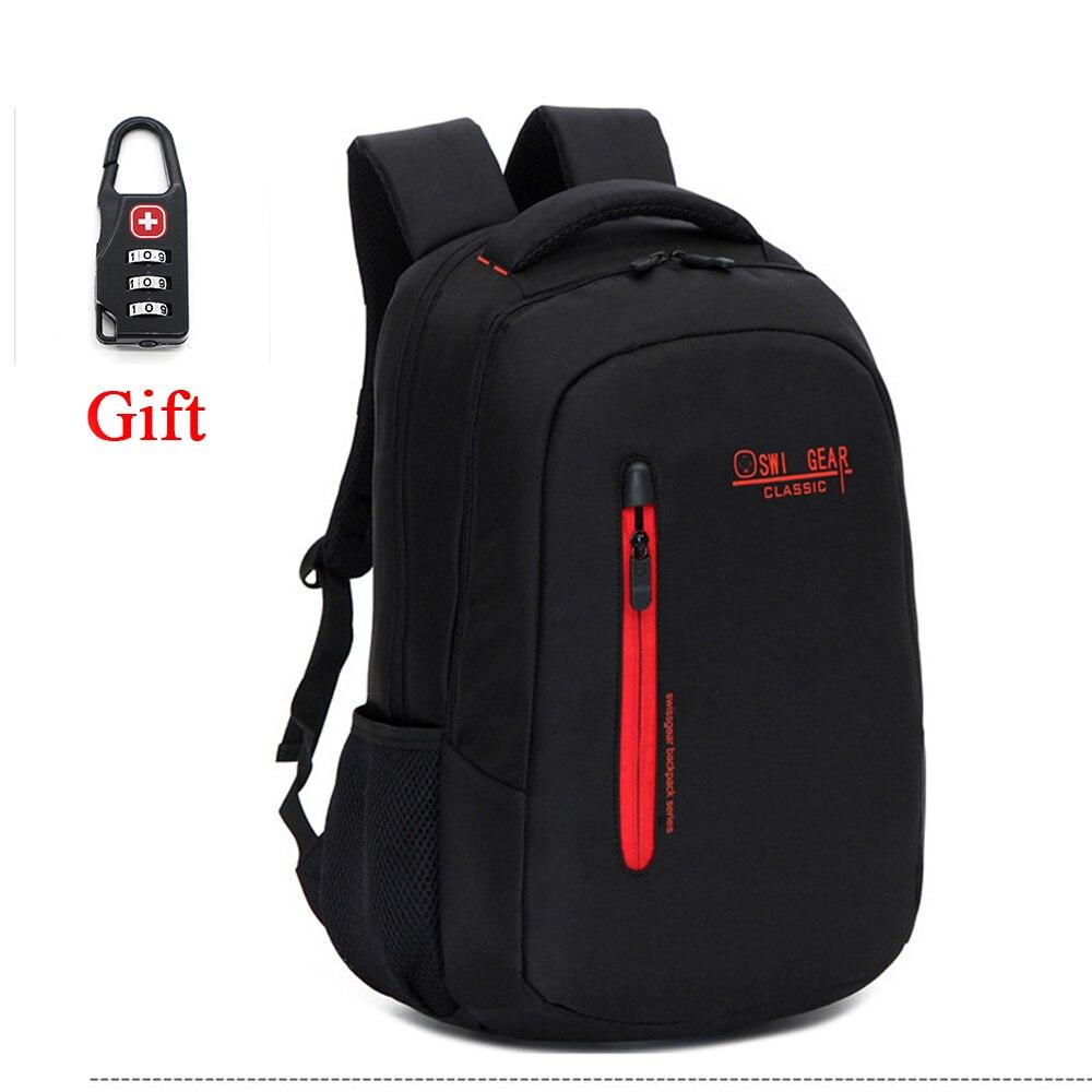 Brand Unisex Backpack Swissgear School Backpack Boys girls Waterproof Laptop Backpack Male Bag Men Shoulders Bag+Free Lock<br><br>Aliexpress