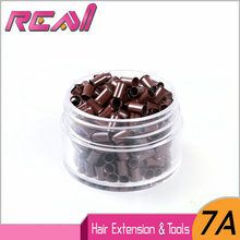 (200pcs/jar, 5 colors 3.4mm*3.0mm*6.0mm) Copper Micro Tubes Rings Euro Locks for Feather Hair Extensions