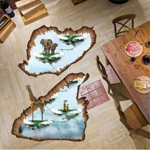 1pc Island floating wall sticker three-dimensional affixed premises wall stickers living room decorative painting surface L30