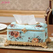 Jia-Gui Luo Retro luxury european-style resin tissue boxes Creative household napkin smoke box decoration decoration napkin box