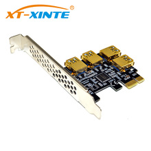 Buy PCI-E 1x 16x Riser Card PCI-Express 1 4 Slot PCIe USB3.0 Adapter Port Multiplier Miner Card BTC Bitcoin Miner Mining for $18.98 in AliExpress store
