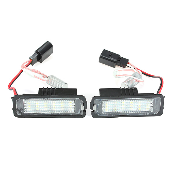 2017 New 18 SMD Chips LED Licence Number Plate Light Lamp For VW/Golf/Mk4/MK5/Passat/Polo<br><br>Aliexpress