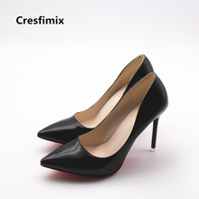 Buy Cresfimix zapatos de mujer women fashion party high heel shoes lady casual night club black high heels female slip high heels for $10.98 in AliExpress store