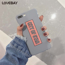 Lovebay Phone Case For iPhone 6 6s Plus 7 7 Plus Cute Cartoon Letter CITY OF STAR Ultra Thin Hard PC Phone Case Back Cover Bags