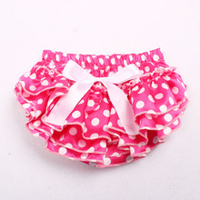 11 colors Baby Girl Satin Silk Bow Dot Nappy Shorts Boy Briefs Summer Bottom Pants Diaper Covered Bloomer Infant Photo Props(China)