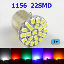 LED Bulb 1 piece1156 22SMD P21W BA15S  Car Auto Rear Turn Signal Lights Parking Lamp Bulb 12V Free Shipping