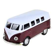 BOHS Alloy volkswagen VW Mini bus 1:24 Alloy Diecast Models Car Toy Collection For Boy Children As Gift brinquedos meninas(China)