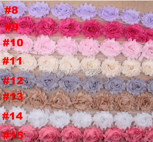 "15 Yards /lot 2.5"" shabby rose trim, flowers for headband shabby flower 15 color available DIY hair acessories can pick color"