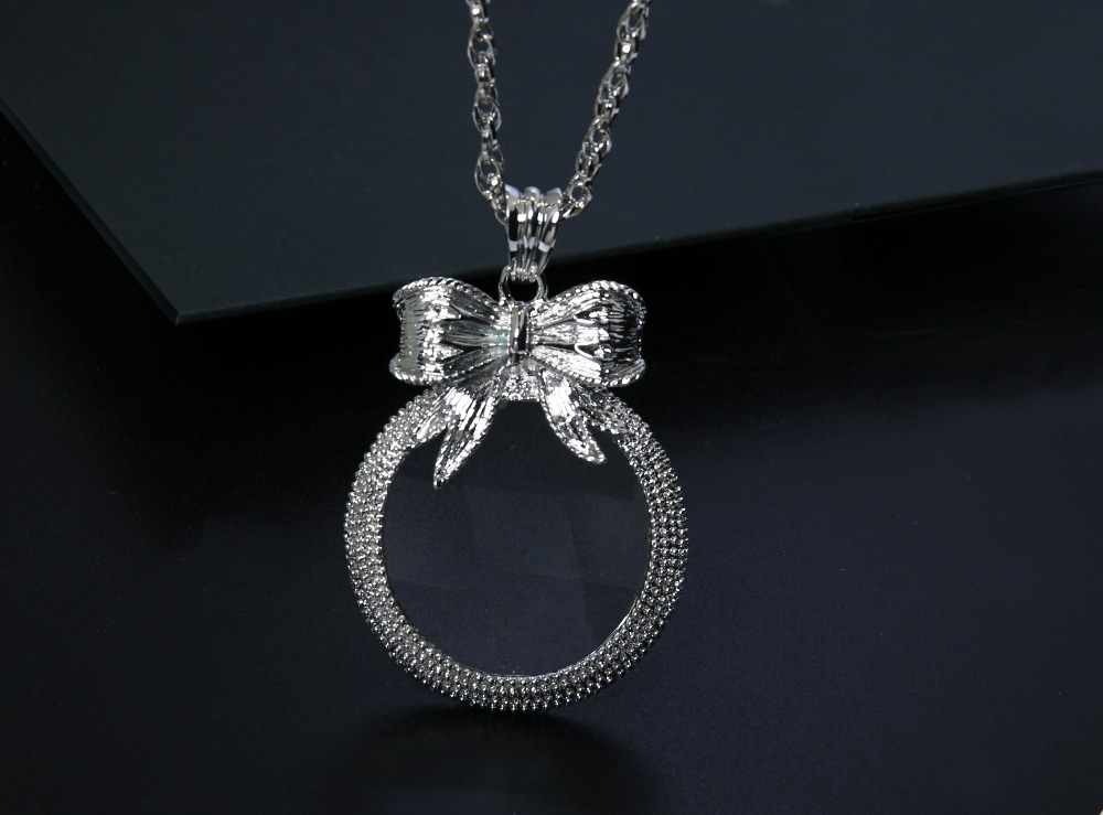 2x Magnifying Glass Top Quality Necklace Reading Glass Pendant (7)