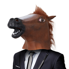 1pc Creepy Full Face Halloween Horse Mask Novelty Rubber Animal Mask latex party Animal Mask kids  Masquerade Party Mask funny