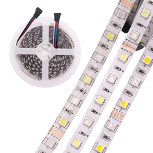 DC24V 12V 12mm10mm RGBW led strip light 5050 SMD 5M 300 led Waterproof flexible tape rope stripe light RGBWW RGB warm white