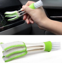 1PCS2017New Arrive Double Slider Car Air Conditioning Outlet Venetian Window Cleaning Brush Multi-purpose Dust Brush Blind Brush(China)