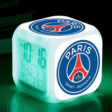Ligue 1 Team/Clubs Printed LED Alarm Clock reloj despertador Digital Watch Football/Soccer Fans Gifts electronic desk clock