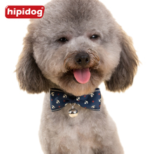 Hipidog Adjustable Modern Style Bowknot Ties Pet Grooming Accessories Bow Tie Ring Bell Collar Bowtie Cat Necktie Dog Collar