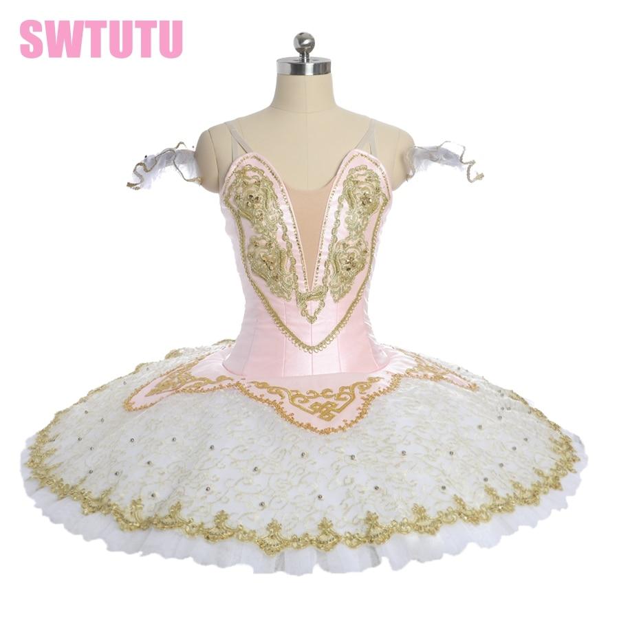 girls performance costume Women pink fairy pancake competiton stage tutu costumes child ballerina professional tutu BT9051B