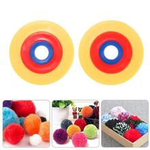 Buy 2pcs DIY Plush Pompom Ball Maker Fluffy Ball Weaver Needle Craft Knitting Wool Tools Making Plush Balls Tools (Randon Color) for $1.12 in AliExpress store
