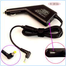 19V 1.58A Laptop/Netbook Car DC Adapter Battery Charger Power Supply + USB Port for Dell PP19S PP39S PP40S 10V 9N