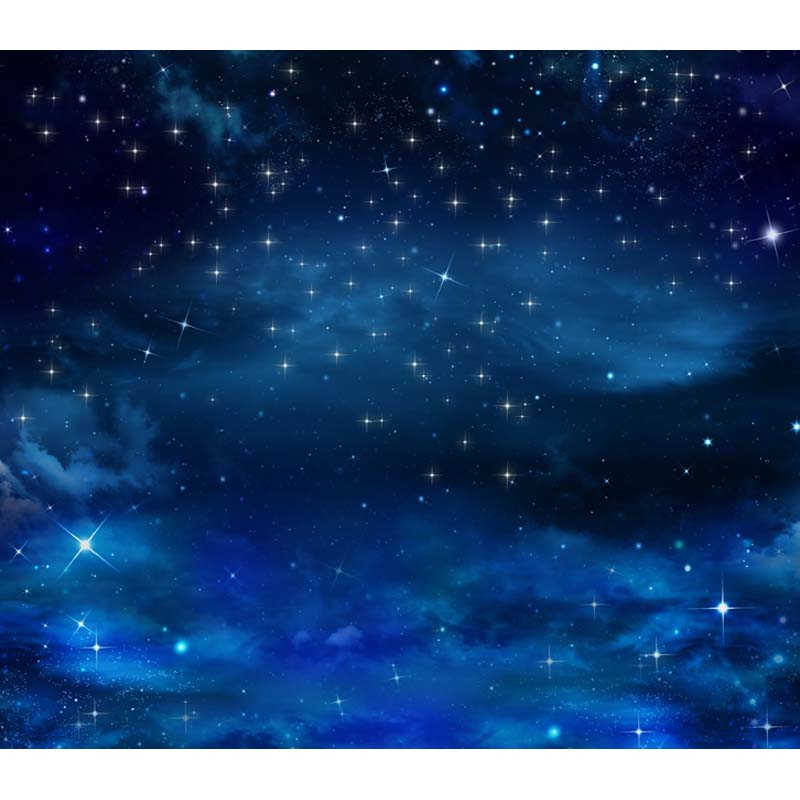 Blue Sky Glitter Star Night Custom Photography Background For Studio Photo Props Photographic Backdrops cloth F-2703<br><br>Aliexpress