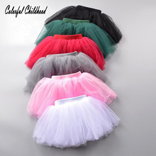 1-8Y Girl Clothes Toddler Tutu Skirt Kids Princess Girls Skirts Lovely Ball Gown soft Pettiskirt Children Clothing 7 colors(China)