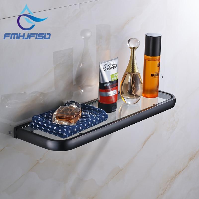 Oil rubbed bronze bathroom shelf