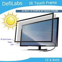 DefiLabs 32 inch IR Touch Screen Panel without glass / 10 points interactive touch screen frame(China)