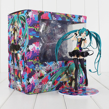 New Arrival Hot Anime Hatsune Miku Tell your world Ver. PVC Figure Doll Collectible Sex Girl Model Toy 20cm