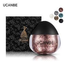 UCANBE Glitter Highlighter Makeup Sparkling Cream Face Body Hair Paint Paste Diamond Highlight Gel Metallic Festival Kit Tools(China)