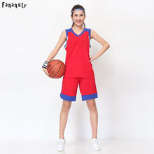 High quality basketball jerseys Women custom basketball uniforms girls cheap college basketball training suits girls DIY set(China)