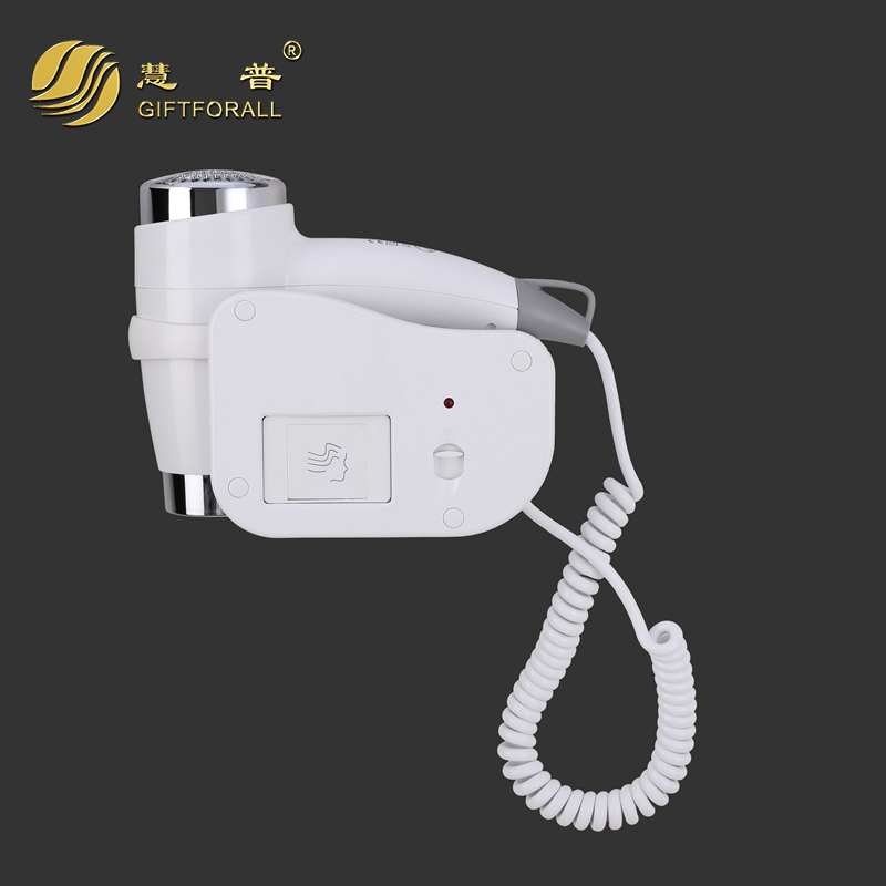 GIFTFORALL 210-240v Blow Dryer For Household 3 Gear Hot/cold Air Bathroom Wall Mounted Electric Hair Dryer 1200w-1599w 1808-6-T<br>