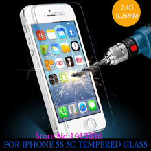 0.26 mm for iphone 5 5s Tempered Glass front clear screen protection glass film on the for iphone5 5s 6 6s Tempered Glass
