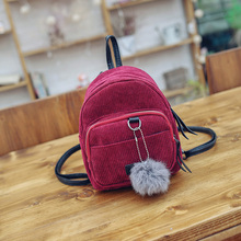 MEI NAI LI Women Backpack Solid Corduroy Backpack Simple Tote Backpack School Bags For Teenager Girls Students Shoulder Bags