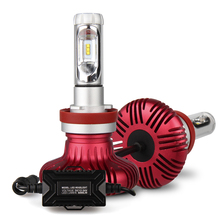 Car Rover H4 H7 H11 LED Headlight Bulbs Conversion Kit with 6000Lm 6500K Change Color to 3000K or 8000K with Film(China)