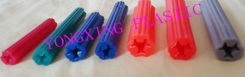 500pcs/lot straight plastic tubing expand nail anchor 8X25mm<br>