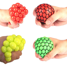 Hot Sale Squishy Mesh Ball Squeeze ball Novelty in Sensory fruity Kid Play EDC Stress Relief Sensory Fun Toy Autism Hand Fidget